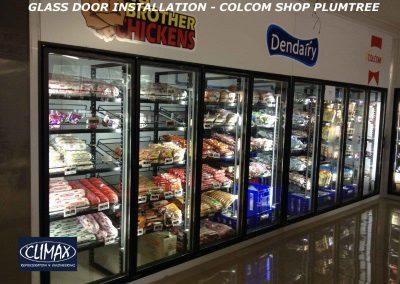 GLASS DOOR INSTALLAION - COLCOM SHOP PLUMTREE